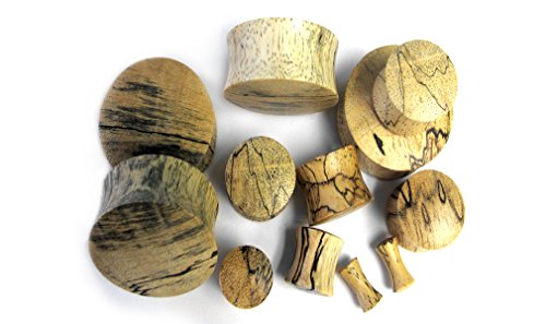 1 Pair of 4 Gauge (4G - 5mm) Tamarind Wood Plugs - Double Flare by Urban Body Jewelry (Image #2)