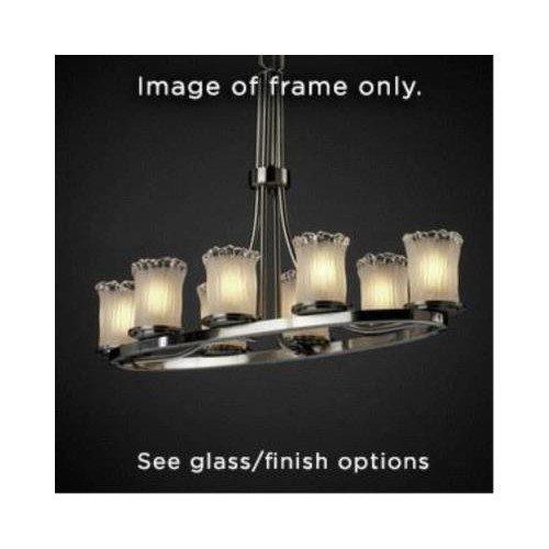 Justice Design Group FAL-8751-12-NCKL LumenAria Collection Dakota 8-Light Oval Ring Chandelier