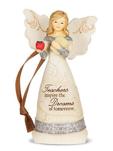 Halloween Teacher Appreciation Gifts (Pavilion Gift Company 82344 Elements Teacher Angel Figurine,)