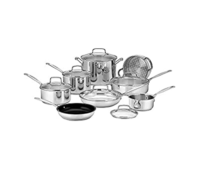 Cuisinart Chef's Classic Stainless 14-Pc. Cookware Set