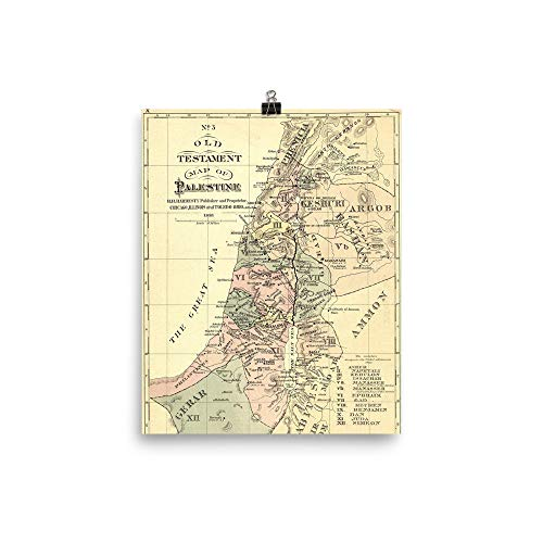 (Holy Land Israel Old Testament Map 1881 Print Poster)