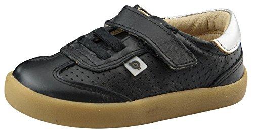 Old Soles Boy's Mr Lee Hook and Loop Closure Sneakers (Black/Silver, 25 M EU/9 M US Toddler) by Old Soles (Image #3)