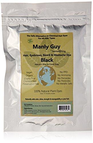 Manly BLACK Beard Mustache Color