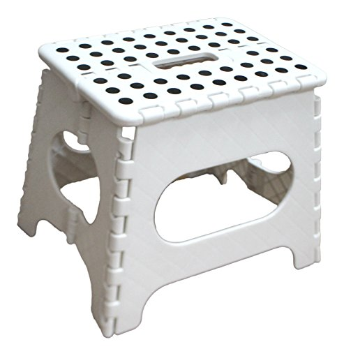 Jeronic 11-Inch Folding Step Stool Holds up to 300 lb Folding Step Stool