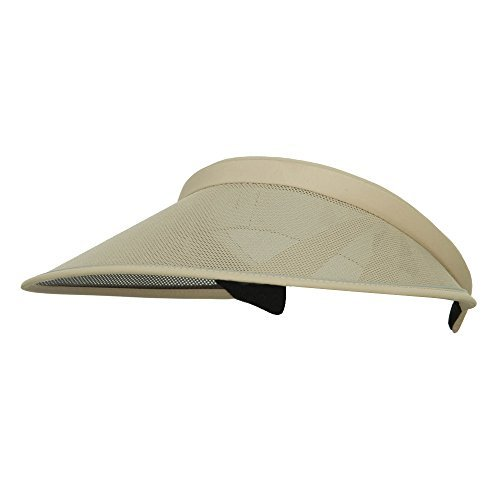 UV 50+ Protection Clip On Visor - Khaki ()
