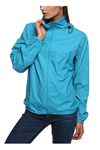 Zeagoo New fashion Waterproof Climbing Running Outdoor Hoodie Coat Sport Cycling Jacket,Medium,Sky Blue