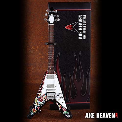 FAN MERCH Jimi Hendrix Famous Psychedelic V - Réplica de Guitarra ...