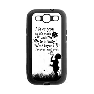 Generic Love Quote I Love You to the Moon and Back Design Back Cover Case for Samsung Galaxy S3
