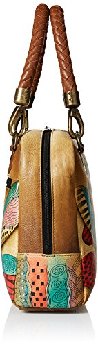Zip Satchel By Hand Leather Medium Anuschka By Women's Anuschka arround Zip Leather Painted Anna Dragonflies Painted Satchel Anna Anuschka Women's Medium Dancing Hand arround by womens Anna xqSvwYZP