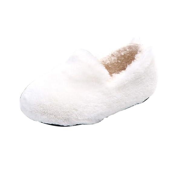 YanHoo Zapatos para niños Niñas de los niños Letras de Color sólido de Invierno más Terciopelo