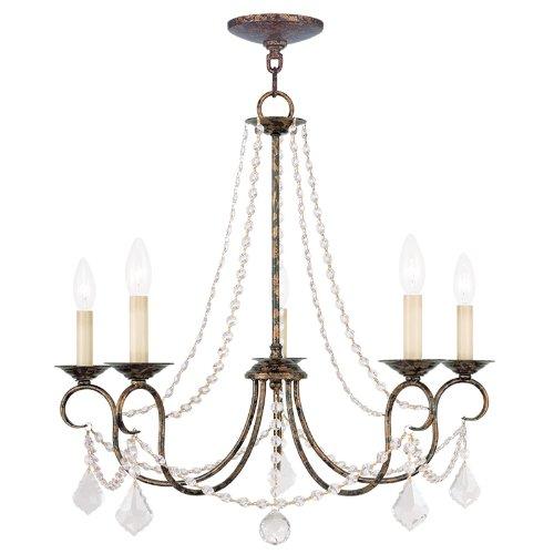 Cheap Livex Lighting 6515-71 Pennington 5 Light Chandelier, Hand Applied Venetian Golden Bronze