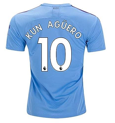 KUN Aguero Manchester City 2019/20 Home Soccer Jersey Size M ...