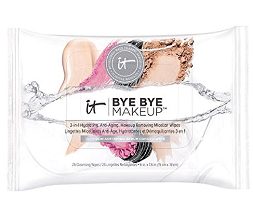 It Cosmetics Bye Bye Makeup 3-In-1 Hydrating, Anti-Aging, Makeup Removing Micellar Wipes 25 ct by It Cosmetics