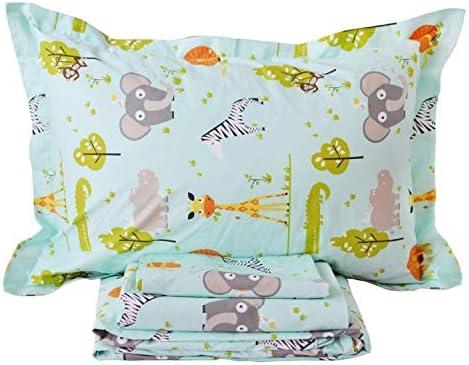 Brandream Kids Woodland Bedding Sets 100/% Egyptian Cotton Toddler Bedding Sets Full Size