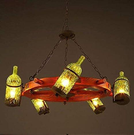QIAQIA Lámpara de cristal araña/creativo bar cafetería restaurante/color del europeo de la