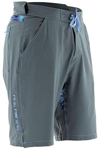 Marolina Outdoor H2000010CGYS Huk Next Level Board Shorts, Charcoal, Small