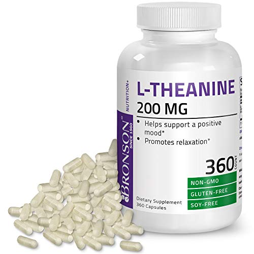 L-Theanine 200mg (Double-Strength) with Passion Flower Herb - Reducing Stress and Promoting Relaxation Without Sedation - Non GMO Gluten Free Soy Free Formula, 360 Vegetarian Capsules (3 In 1 Joint Formula Side Effects)