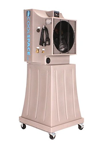 COOL-SPACE CS5-16-VD-TB Tall Base Variable Drive Portable Evaporative Cooler, 18-Inch