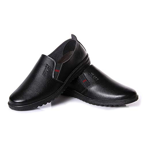 Phil Betty Mens Dress Shoes Fashion Round Toe Flats Comfortable Formal Shoes -