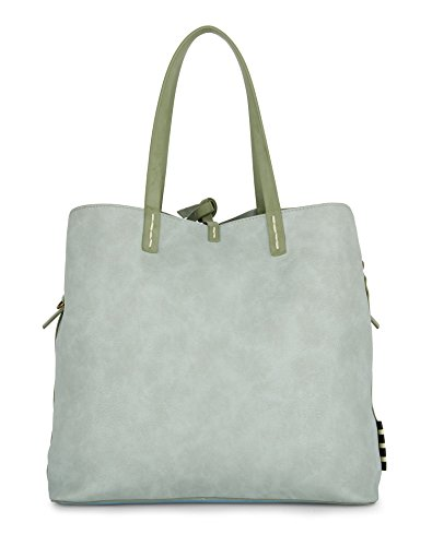 Women's P8 w01323 Shopping Big Manila Bag w Fiona Grace Acqua 57wPq6I