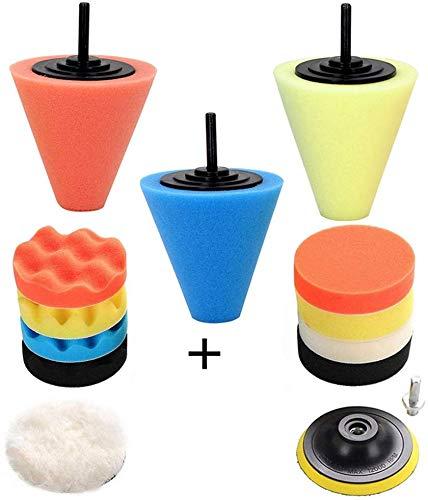 Car Buffers and Polishers Kit for Drill, 14Pcs Drill Polishing Wheel Foam Ball Buffing Pads Sponge Ball for Automotive…