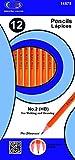 PENCILS # 2 - YELLOW BARREL - 12 COUNT BOXED 80 pcs SKU# 1902639MA