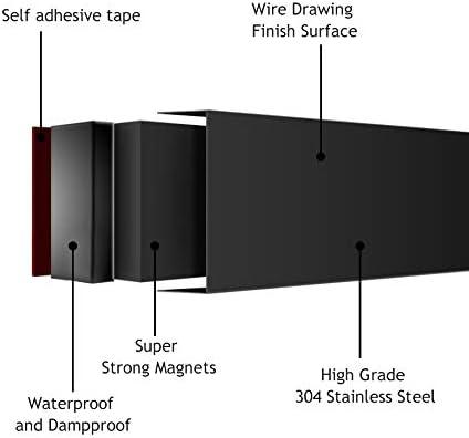 taller oficina negro HG Power Soporte magn/ético para cuchillos de acero inoxidable para cocina
