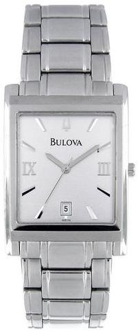 Bulova Men's 96B108 Analog Japanese Quartz  Silver Watch