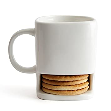 House of Quirk Ceramic Cookie Mug Cup With Biscuit Pocket Holder ...