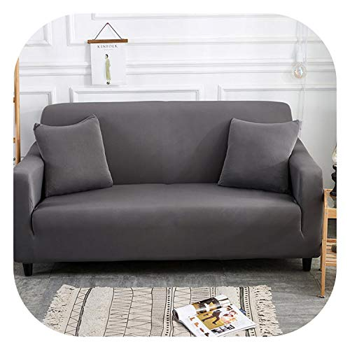 (Light Grey Solid Simple Elastic Sofa Protector Cover for Living Room Sofa Slipcovers Sectional L Shape Sofacover 1/2/3/4 Seater,8,1 seat)