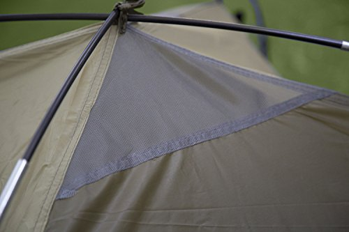 Stansport Hunter Series Hunter Buddy 2 Pole Dome Tent (Forest Green/Tan, 5-Feet 6-Inch X 6-Feet 6-Inch X 44-Inch)