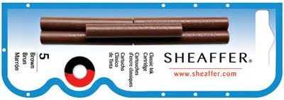 Sheaffer Refills Brown 5 Pack Fountain Pen Cartridge - SH-96360