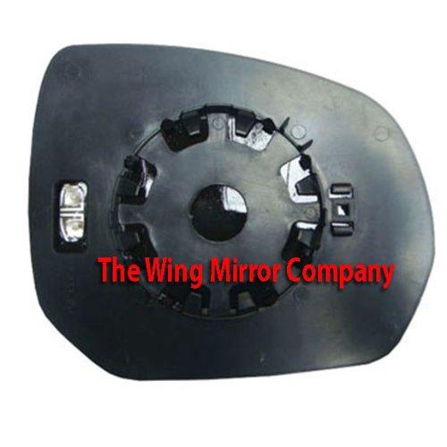 CITROEN C3 2011-/>ON DOOR WING MIRROR GLASS SILVER HEATED /& BASE,LEFT SIDE