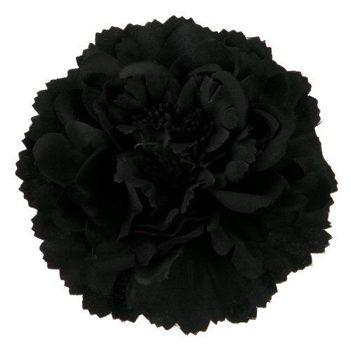 Multi Petal Flower with Pin and Clip - Black OSFM