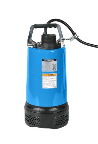 Tsurumi LB-800; Slimline Portable dewatering Pump, 1hp, 115V, 2