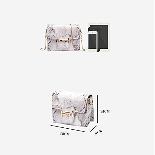 0 32kg Bolsa Trabajo de Crossbody Textura de Vacaciones Bolso A Hombro para Mujer Bolsa Blanco 71lbs de Bolsa 0 A la Verano Pequeña Mármol Cuadrada Color q71ppxwRC