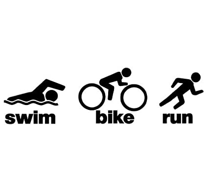 amazon com triathlon swim bike run decal sticker size 2 0 x 7 0 rh amazon com triathlon team logos triathlon logs