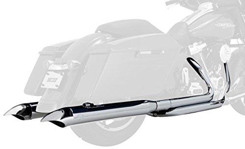 (Vance & Hines 17-19 Harley FLHX2 Classic Turn Down Slip-On Exhaust (Chrome / 4