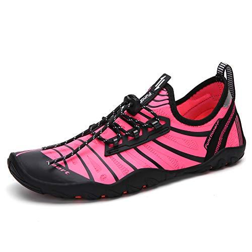 Seabone Men Women Minimalist Water Shoes Quick Dry Barefoot Aqua Shoes for Water Aerobics Swim Pool Walking Rose 9.5 M US Women / 8 M US Men ()
