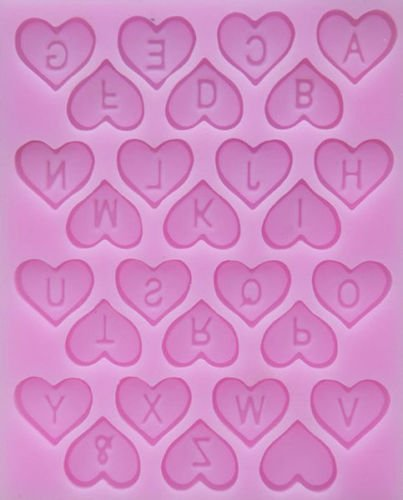 Baking Molds 3D Silicone Mould Cake Candy Pastry Tools Decorating Reusable Non-stick Mini Heart Letters Cavity Sugarcraft Fondant Gum Paste Chocolate Making Crafts Mold Soap Decorations 1Pcs
