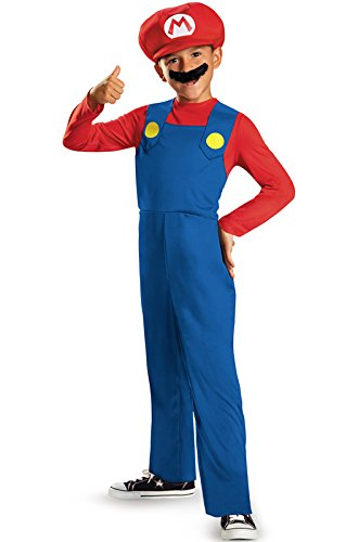 Disguise Nintendo Super Mario Brothers Mario Classic Boys Costume, Small/4-6 (Mario And Luigi Costumes Kids)