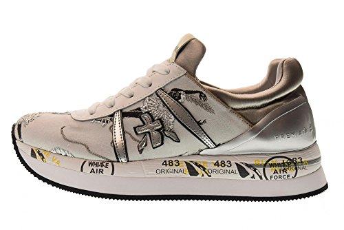 Scarpe Basse Premiata Sneakers Basse Donna Liz 2998 Grigio Perla