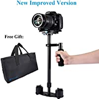Handheld Stabilizer for DSLR Camera, PULUZ Improved Version Professional Portable 24 60cm Carbon Fibre Video Handle Stabilizing Support System for Canon Nikon Sony, Max Load: 3kg/ 6.6lb