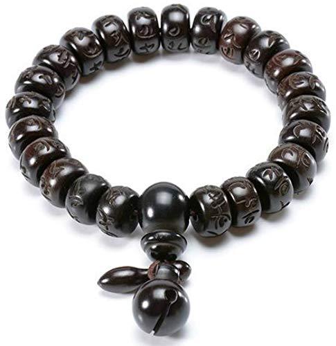 Small Details Hand-Carved Peachwood Malas Tibetan Buddhist Prayer Bracelet (12)