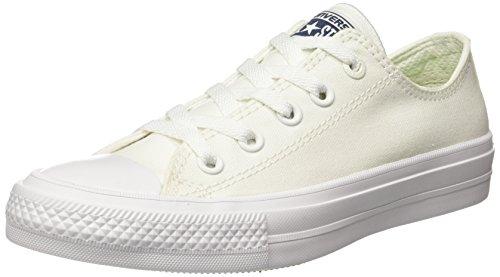 Converse Mens Chuck Taylor All Star Low II White Sneaker - 4.5 Men - 6.5 Women ...
