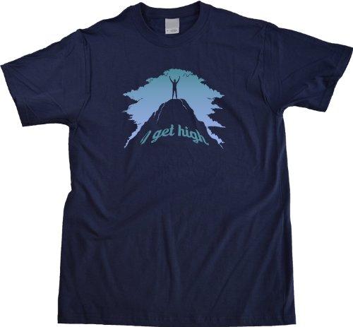 I Get High   Rock Climbing, Climber Humor Unisex T-shirt Funny Rock Climbing Shirt