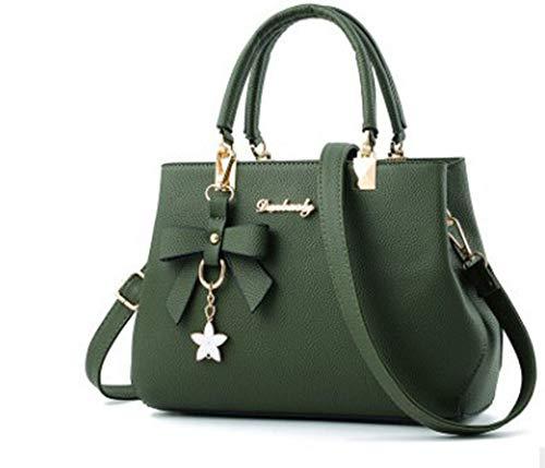 Soluo Satchel Purses Handbags for Women Shoulder Tote Bags Women Shoulder Tote Bags Wallets Crossbody Bag (Green)