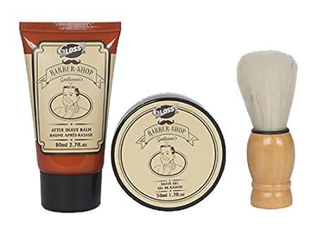 Gloss ! Make up & accessoires Barbershoppe Pot de Bain Métal Rond pour Homme Aloe Vera/Menthe Poivrée 5 Pièces, Coffret Cadeau-Coffret de bain BAR23760