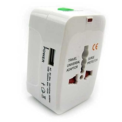 International Adapter World Travel Home Plug Wall Converter AC Charger for Net10, Straight Talk, Tracfone ZTE Majesty, Solar, Nubia Mini, Avail 2, ZTE Prelude, Zephyr, Z998, Quartz, Paragon, Lever