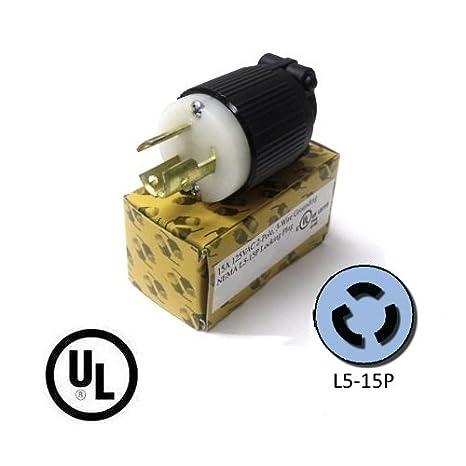 Amazon.com: L5 – 15P Plug – Nema Locking 15 Amp, 125 V Cable ...